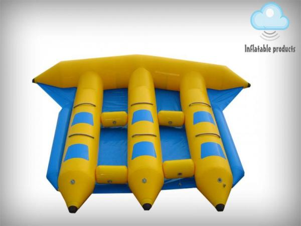 Inflatable fly fish flying water toy game