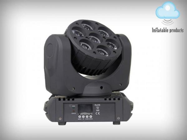 7 x 12w Osram 4 in 1 LED beam moving head