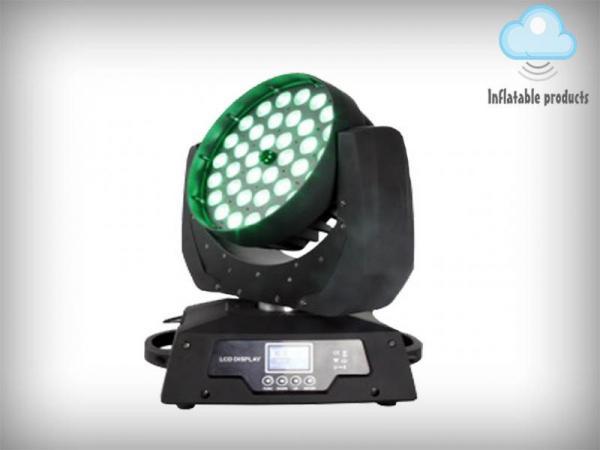 39 CHs LED Moving Head Light Wash 36PCS X 10 W Quad-in-1