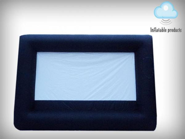 Inflatable projector screen, UK